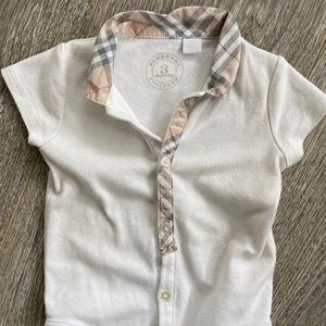 Burberry One Pieces - Burberry baby check romper